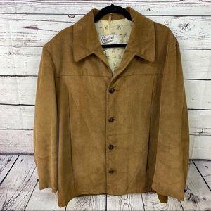 Vintage corduroy western style blazer light brown